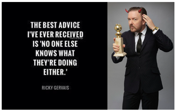 ricky gervais imposter syndrome